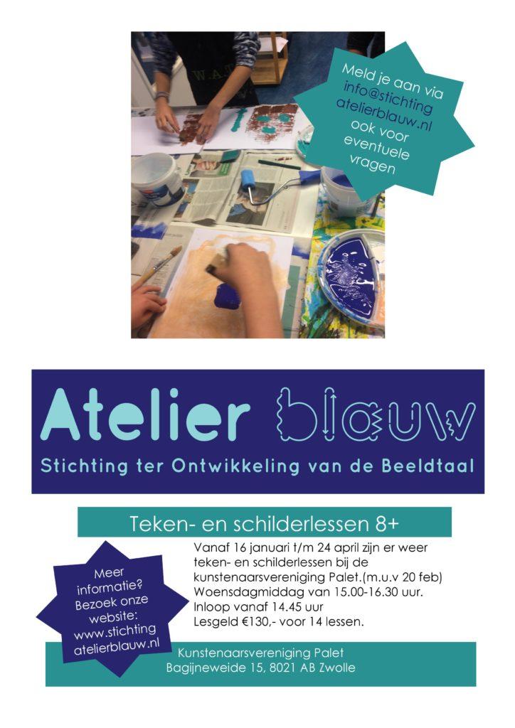 kunstlessen kinderen Palet Atelier Blauw